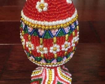 Easter Egg Beaded Decorative Egg Folk Egg Easter Decoration Handmade Egg Easter