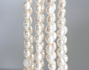 1271 White baroque pearls 9-11 mm Cultured pearls Pearls jewelry Ivory pearls Baroque pearls Natural pearls Freshwater pearls.