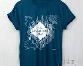 The Marauder's Map shirt Harry Potter Clothing t shirt Marauder Map tee unisex t-shirt size S to 2XL