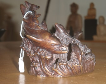 Small Cast Iron Dolphins (can be used as candle holder or small tray)