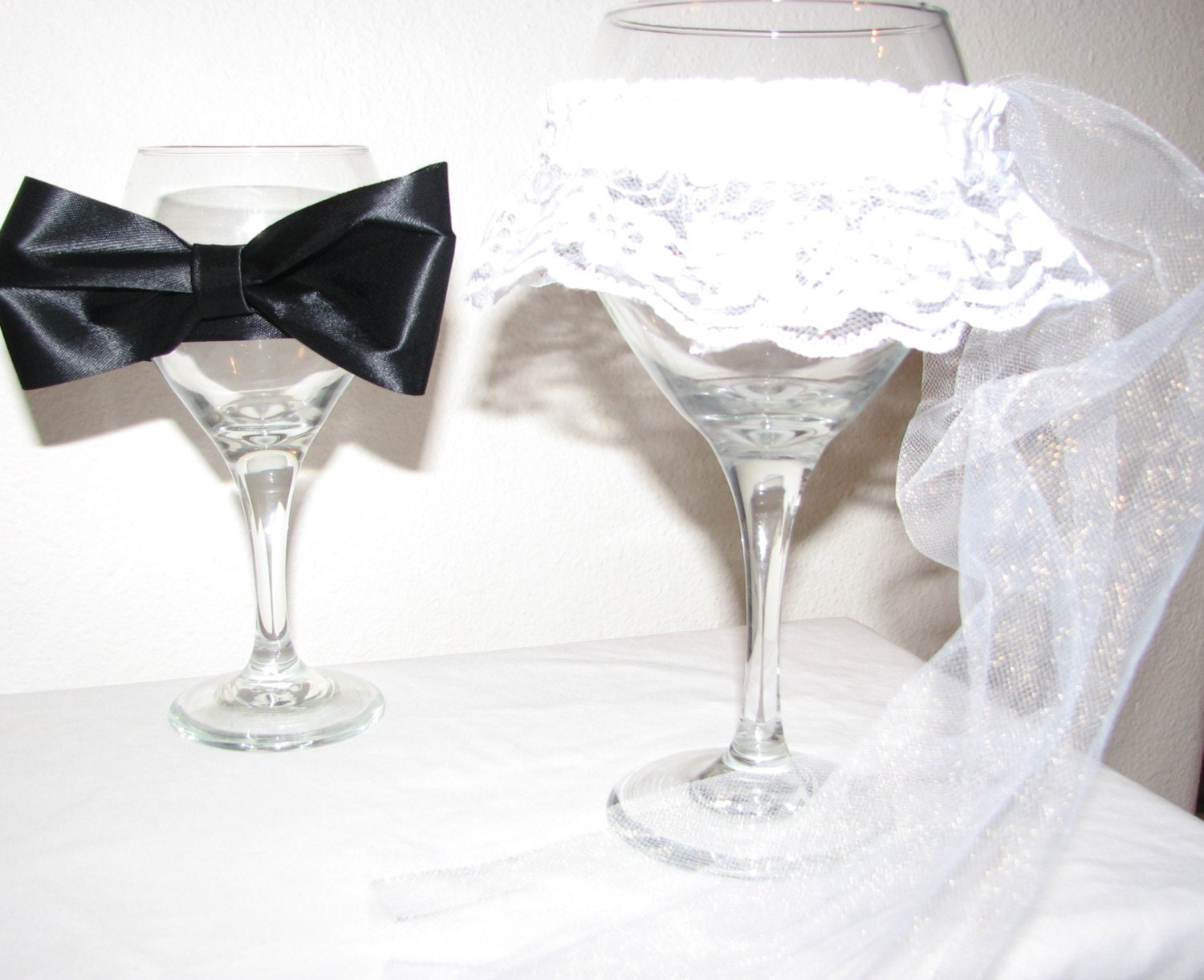 Decorating Wedding Glasses For Bride And Groom. bride and groom ...