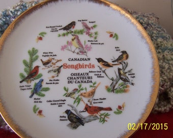 Vintage Canadian Songbirds Collector's Plate