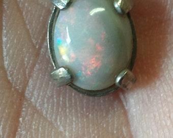 Lightning ridge opal pendant.