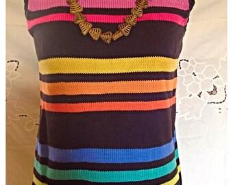 80's POP ART Color Blocked Sweater Top