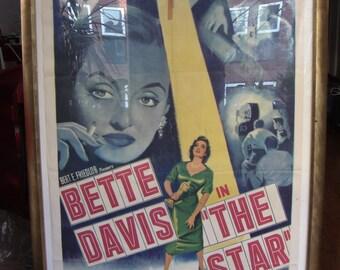 Early 50's Original Film Poster Betty Davis The Star 1952