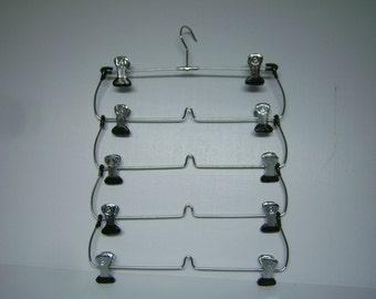 Vintage Metal 5 Skirt Hanger, Apron, Linens, Photo, Card, or Art Holder, Folds Up, Many Uses, Good Condition