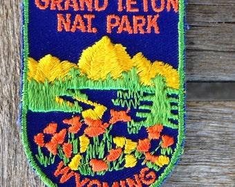 Grand Teton National Park Vintage Souvenir Travel Patch from Voyager - LAST ONE!