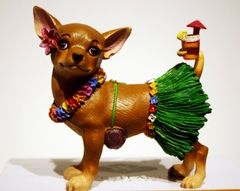 Chihuahua collection by Parastone-resin Figurine hand painted limited edition!