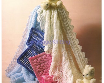 shawl and pram covers dk knitting pattern 99p