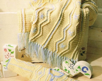 jacket and pram cover crochet pattern 99p
