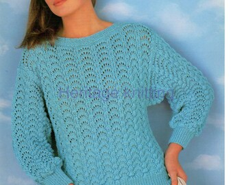 womens sweater dk knitting pattern 99p pdf