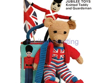 teddy and guardsman toy dk knitting pattern 99p pdf
