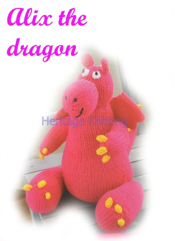 dragon toy knitting pattern 99p