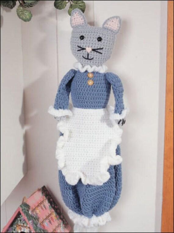 cat bag holder crochet pattern 4 ply 99p