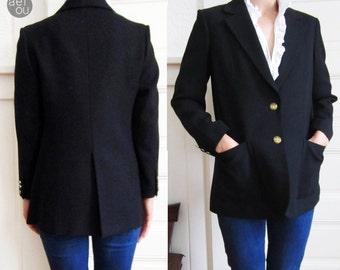 Vintage Blazer / Navy Blue Blazer size Small / Nautical blazer size Small / Blazer made in Japan