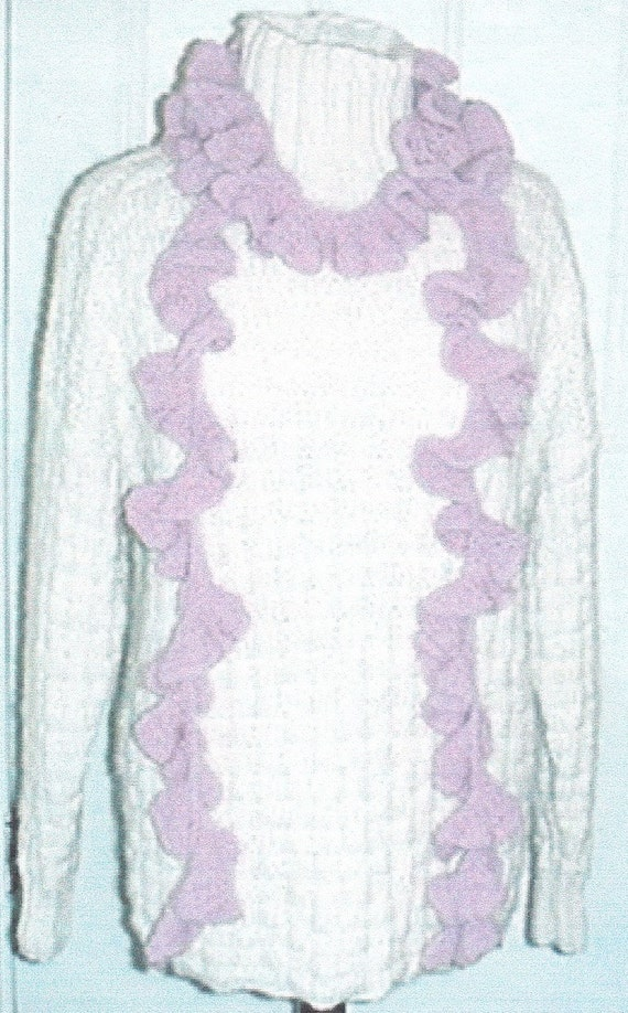 Frilly Knit Scarf Pattern : Knitted Scarf Pattern Scarf Knitting Pattern Frilly Scarf