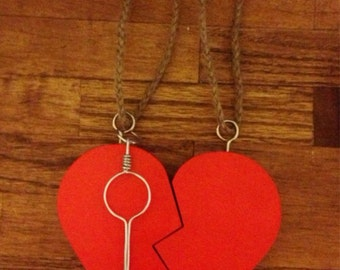 Hanging Heart And Key Keepsakes