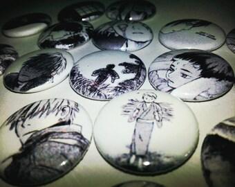 16 one-inch Mushishi button pins