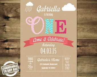 First Birthday Invitation - 1st - Birthday invitations for girls Bday_inv_033