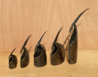 Heads of antelopes steel sculptures Penitents