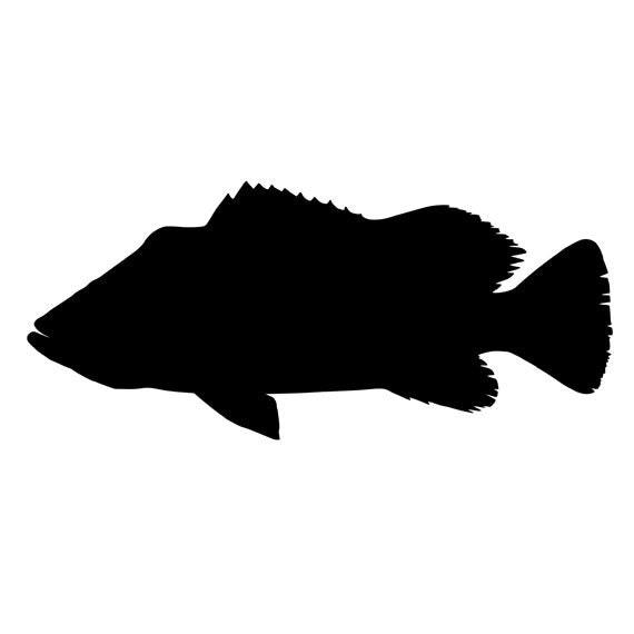 largemouth bass silhouette - photo #14