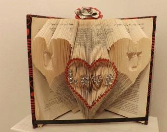 i love you book folding origami