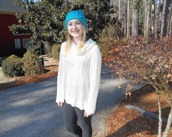turquoise cable headband
