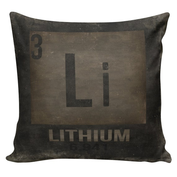 Items similar to Decorative Cotton Pillow Cover Cushion Lithium Periodic Table of Elements ...