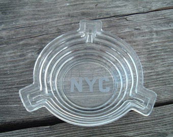 New York Central System Railway Glass Ashtray 1940's?