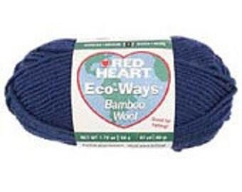 Yarn - Red Heart Eco Ways Wool - Rust or Lipstick