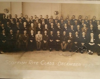 Scottish Rite Class December 1943 Photo