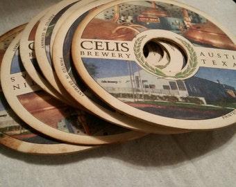 Celis Brewery Austin Texas Coasters