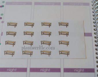 16 massage table Stickers  Perfect for planners like Erin Condren, Plum Paper, Filofax, Limelife and more #27