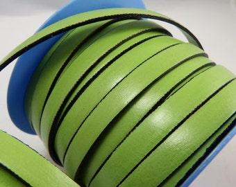 Piastachio flat leather 10 mm * 20 cm