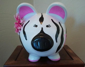 Personalized Hand Painted Piggy Bank