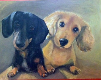 Example of Custom Dachshunds Portrait