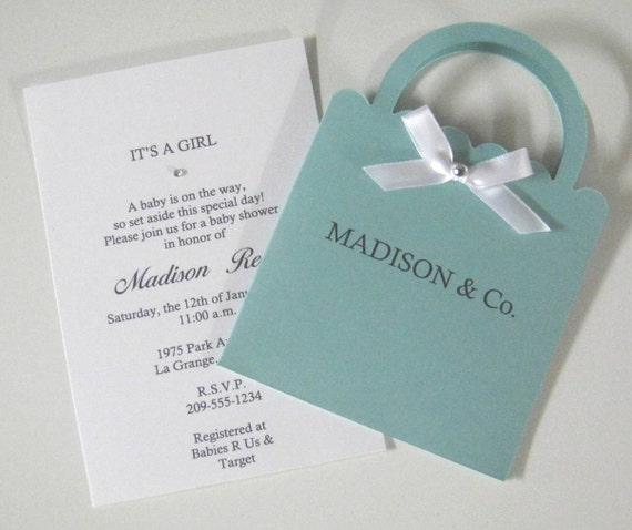 Items Similar To Tiffany & Co. Inspired Baby Shower
