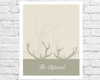 The National band poster printable wall art home decor printable pastel colors instant download The National, printable, birthday gift, deer