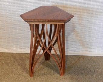 Trellis Side Table in Black Walnut ~ WCT20
