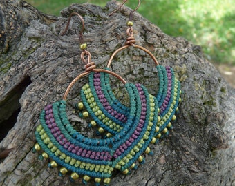 Macramé earrings ring