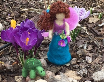 Needle Felted Fairy, Waldorf Inspired, Flower Fairy,