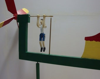 The Trapeze Artist Whirligig (You pick the Colors!)