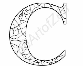 intricate alphabet coloring pages eggs - photo#41