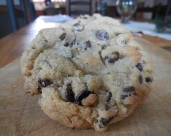Enormous Chewy Chocolate Chip Cookies- Homemade