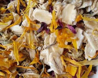 Rose, Calendula & Chamomile Oatmeal Bath Tea | 3 Organic Herbal Bath Tea Bags | Oatmeal Tub Soak | Party Favor | Baby Shower | 6 oz