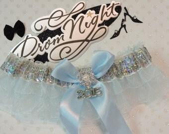 Prom Garters, Light Blue Prom Garter, Sequin Prom Garter, Custom Colors Prom Garter, Prom Garter, Wedding  Garters, Prom Garters.