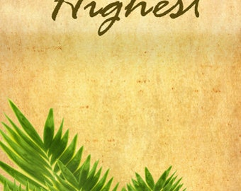 Hosanna in the Highest (English) / Church or Personal banners for Your Home or Office (G1215-1a)