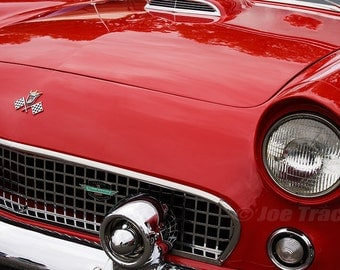 1955 Ford Thunderbird, Automobile Photography, Classic Cars, Automotive Decor, Classic Automobiles, Wall Art, Car Pictures, Old Cars