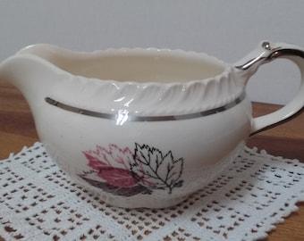 vintage Harker Pottery creamer leaf design