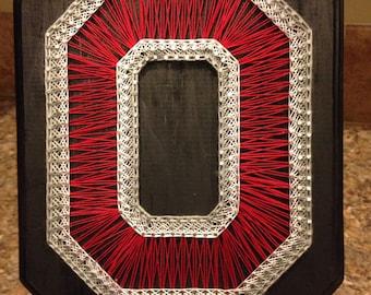 String Art Ohio State University Block O